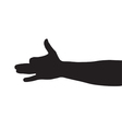 Dog arm shadow vector