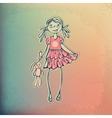 Stylish fashion beauty girl vector