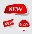 Speech red new paper labels vector