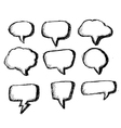 Collection of hand drawn bubble speech vector