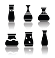 Black silhouettes of vases vector