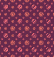 Polka dot fabric seamless pattern dark background vector