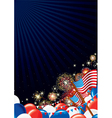 Independence day design background vector