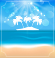 Holiday summer card with beautiful beach and palms vector