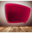 Blank speech bubble on wood background eps10 vector