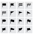 Black flags icon set vector