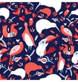Bright floral pattern with birds vector