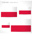 Poland flag template vector