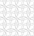 Simple intersecting layered circles seamless vector