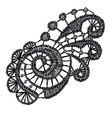Openwork lace realistic vector
