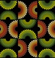 Fabric circle pattern vector