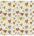 Cute doodle seamless wallpaper vector
