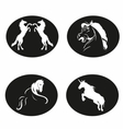 Black and white horse logo vector