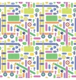 Colorful transport pattern vector