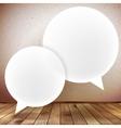 Speech bubble on wooden background plus eps10 vector