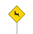 Traffic sign with deer color vector
