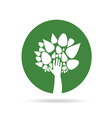 Eco tree with hand green vector