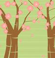 Pink blossom floral pattern background vector