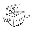 Recycle bins outline vector