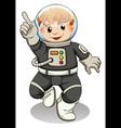 A male astronaut vector