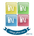 Spines of books icon symbol of a science and vector