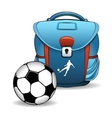 Soccer bag vector