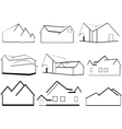 Outlines of houses vector