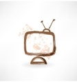 Television grunge icon vector