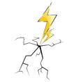 Lightning and cracks vector