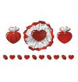 Chocolates of hearts vector