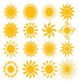 Suns - elements for design vector