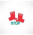 Stop hands icon vector