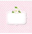 Apple tree flowers background with label vector