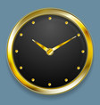 Abstract golden clock design vector