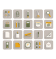 Set of office stationery icons vector