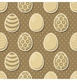 Easter eggs seamless pattern vector