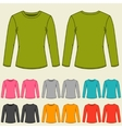 Set of templates colored sweatshirts for women vector