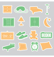 Bedroom stickers set eps10 vector