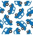 Cartoon cars seamless pattern template for design vector