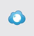 Blue cloud pearl icon vector