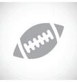 Football black icon vector