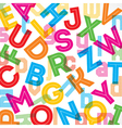 Colorful alphabet background vector