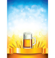 Beer wheat vertical background vector
