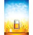 Beer wheat vertical background vector