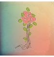 Hand-drawing vintage floral background with flower vector