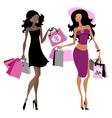 Women shopping bags vector