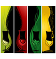 Cocktails banners vector