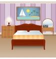 Bed room interior vector