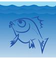 Fish silhouette vector