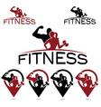 Man and woman of fitness silhouette character and vector